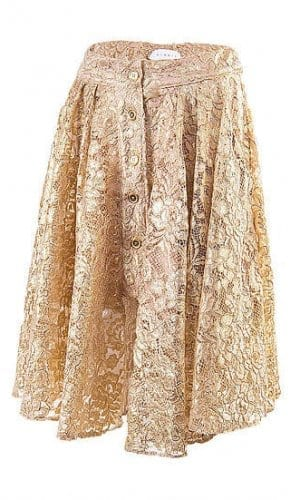 Gold Lace Skirt By A-MM-E