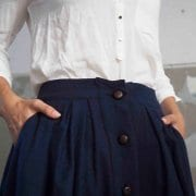 Navy Wool Riding Skirt By A-MM-E