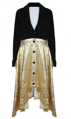 Black Velvet & Gold Riding Coat By A-MM-E