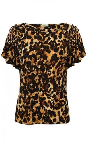 Leopard Ruffle Tee By A-MM-E