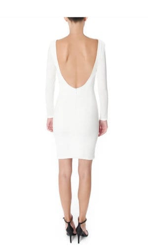 Open Knee Dress By Wang Meng