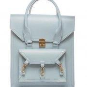 Medium Leather Pelham Bag in Baby Blue