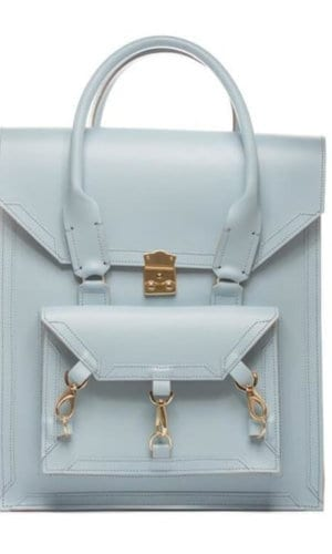 Medium Leather Pelham Bag in Baby Blue