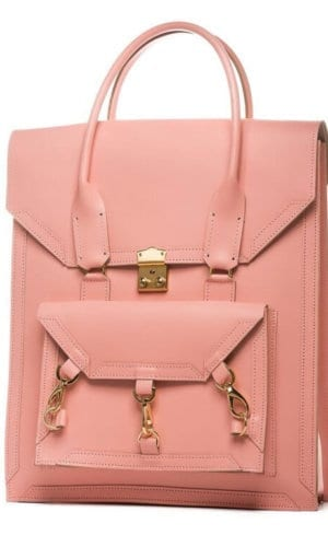 Medium Leather Bag in Pink