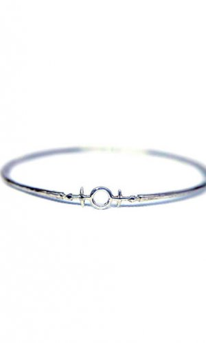 Heim of Awe Silver Bangle