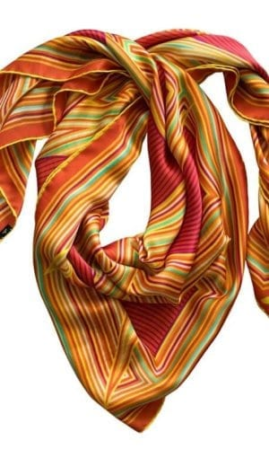 FURY Long Silk Scarf