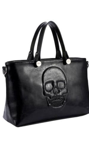Vegan Skull Leather Handbag