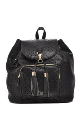 Mechaly Black Vegan Leather Backpack