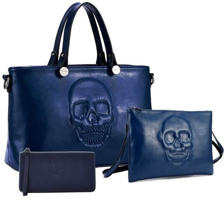 Vegan Leather Handbag Set