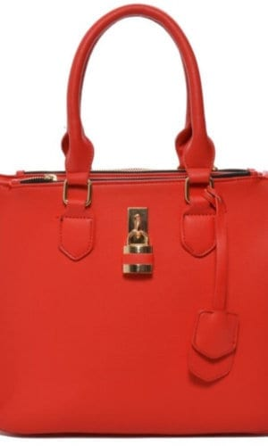 Red Vegan Leather Handbag