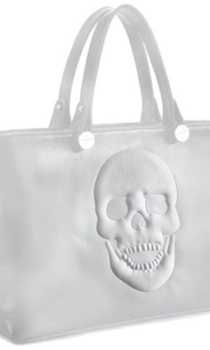 White Vegan Leather Handbag
