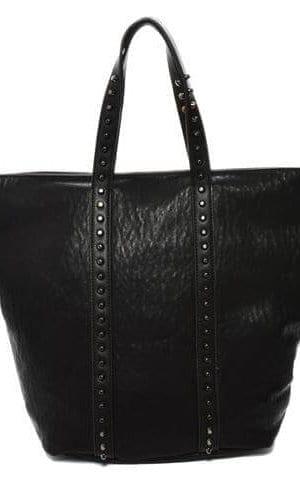 Black Vegan Leather Tote