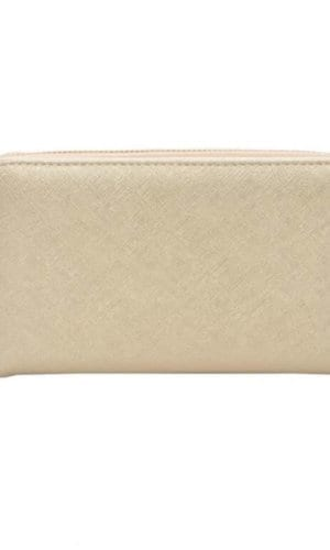 Gold Vegan Leather Wallet