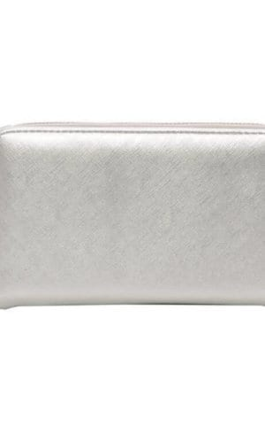 Silver Vegan Leather Wallet