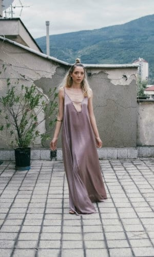 Night Out Pink Silk Dress