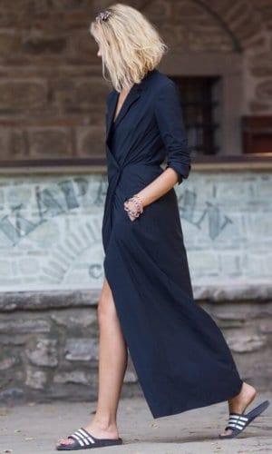 Black Shirt Maxi Dress
