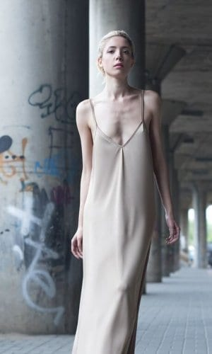 Strappy Beige Maxi Dress