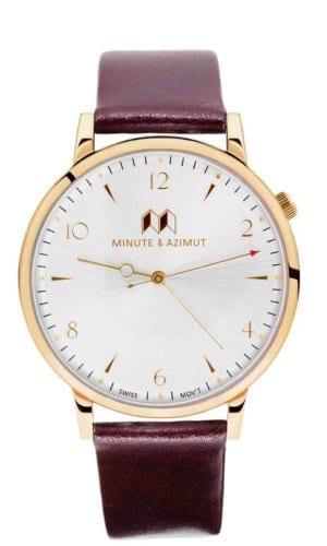 Burgundy Calfskin Watch
