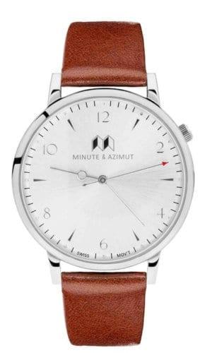 Calfskin Bisham Cognac Watch