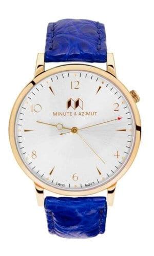 BishamAlligatorMajorelle Blue Watch