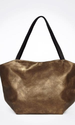 Calliope Bronze Leather Tote Bag
