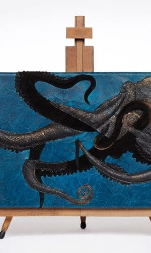 Blue Giant Octopus Wall Panel