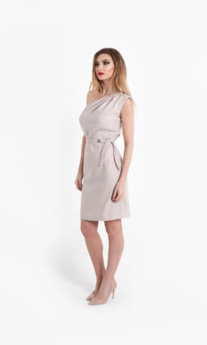 Modena Beige Pencil Dress