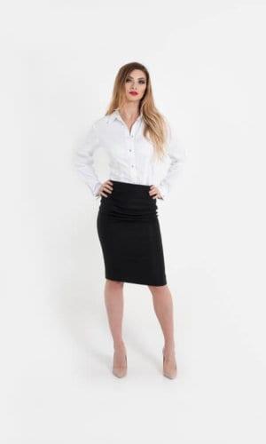 Fidenza Black Skirt