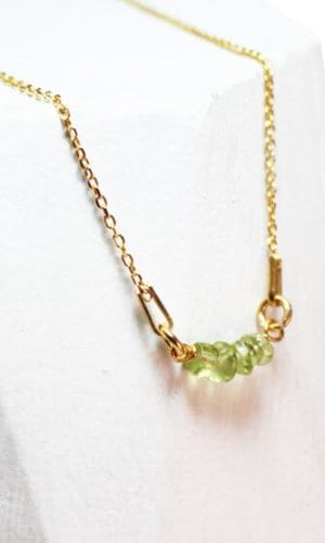Gold Plated Peridot Necklace