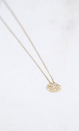 Gold Plated Floral Pendant