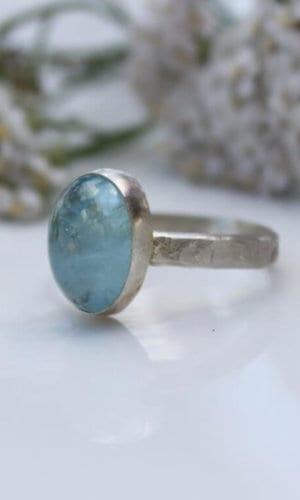 Aquamarine Topaz Ring