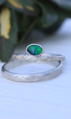 Opal Stone Silver Ring