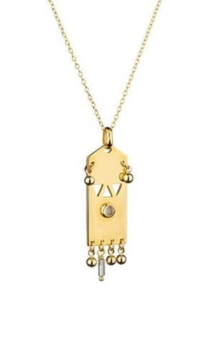 Indian Princess Gold Plated Necklace