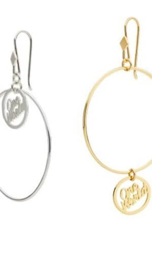 One World Hoop Earrings