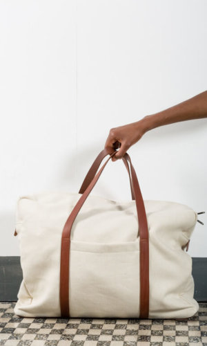 Sustainable Canvas Luggage Bag