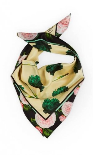 Artichokes and Asparagus Silk Scarf