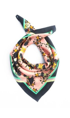 Burmese Toucan Blush Silk Scarf