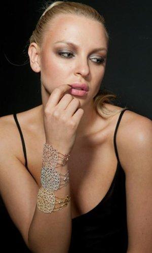 Cassandra Gold Filigree Bracelet