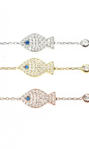 Crystal Fish Bracelet