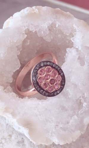 Pink Diamond Oval Ring