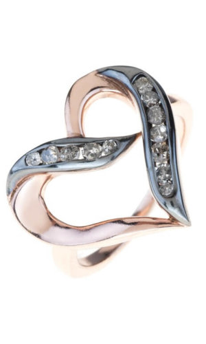 Large Open Heart Ring