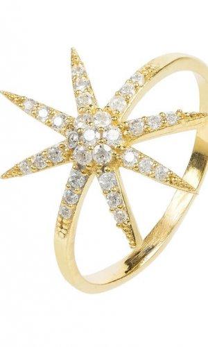 Star Burst Crystal Ring
