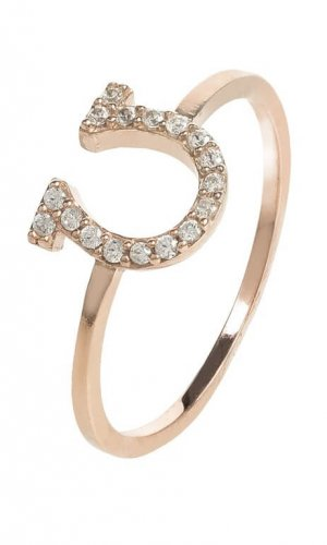 Crystal Lucky Horseshoe Ring