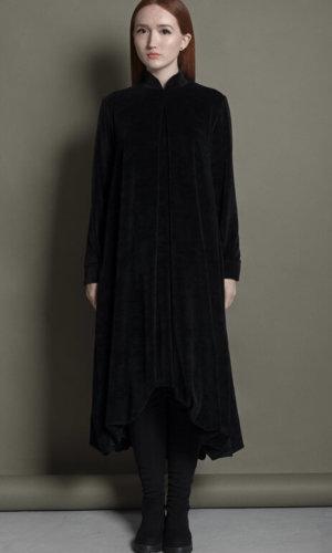 Black Balloon Midi Dress