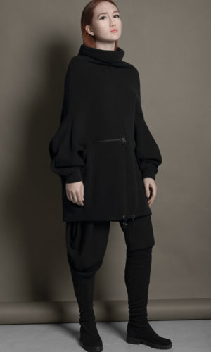 Black Relaxed Fit Hoody