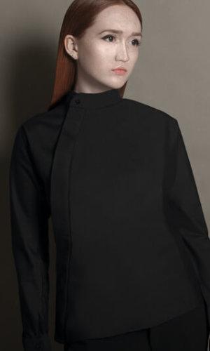 Black Cotton Poplin Shirt