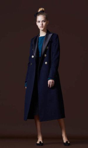 Clare Navy Wool Coat