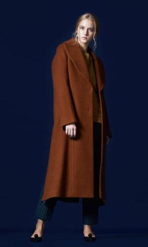Brown Large Collar Duster Coat