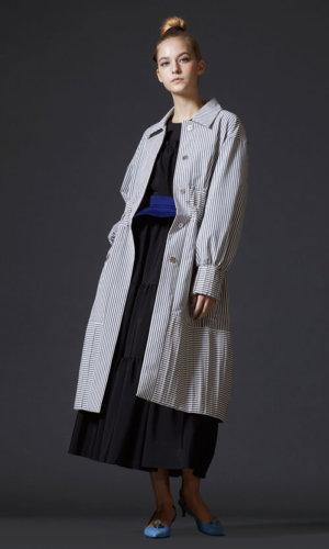 Striped Long Coat