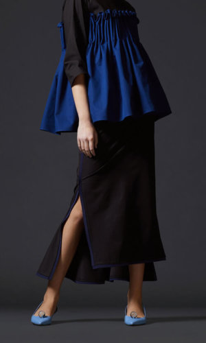 Black Asymmetrical Maxi Skirt